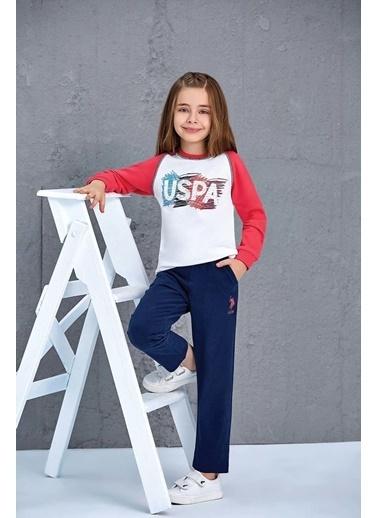 U.S. Polo Assn. Us Polo Assn Lisanslı Kız Çocuk 2'Li Takım Gri Gri